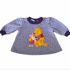 Disney Pooh 2000 Swing Fleece Top Baby Sz 12 Mnths